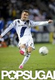 David Beckham played in a playoff game in LA.