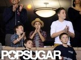Brooklyn Beckham, Romeo Beckham, and Cruz Beckham cheered on dad David Beckham at his LA Galaxy playoff game.