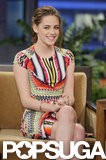 Kristen Stewart Gets Sexy and Colourful to Chat Breaking Dawn Twist Ending