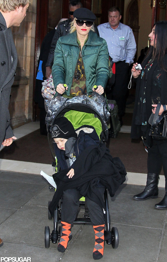 Gwen Stefani and Zuma Rossdale left their hotel in London.