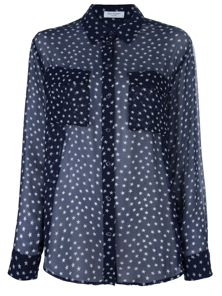 We first fell for this Equipment star-print blouse ($409) when we spotted Miranda Kerr wearing it tucked into a pair of slim-cut black trousers, but in all honesty, this is the kind of star-spangled top that will show off your patriotic side without looking too cheesy.
