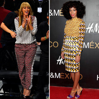 Beyonce and Solange Knowles Wear Print-on-Print