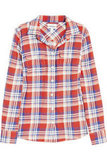"""Nothing says """"Americana spirit"""" like this red, white, and blue J.Crew Holden plaid shirt ($78)."""