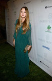Mother-to-be Devon Aoki wore a diaphanous beaded green gown with sheer sleeves.