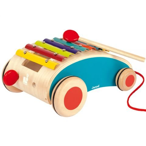 Janod Tatoo Xylo Roller Musical Pull Toy