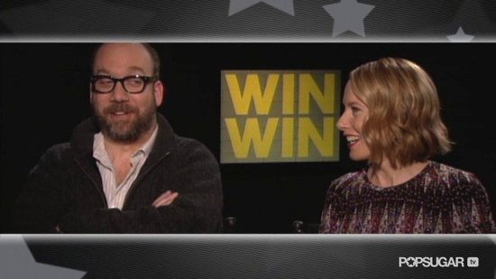 Win Win's Paul Giamatti and Amy Ryan on Jersey Accents, The Office Finale, and George Clooney's Humor