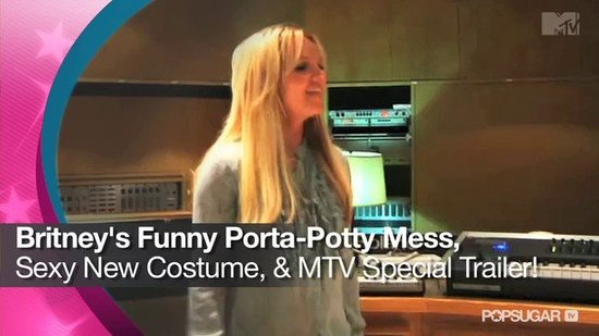 Video: Britney Spears's Funny Porta-Potty Mess, Sexy New Costume, and MTV Special Trailer!