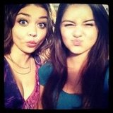 Ariel Winter and Sarah Hyland made faces at the camera. Source: Instagram user arielwinter