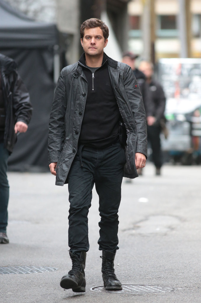 Joshua Jackson wore a pair of boots during the scene.