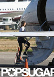 Kristen Stewart stepped onto a private plane.