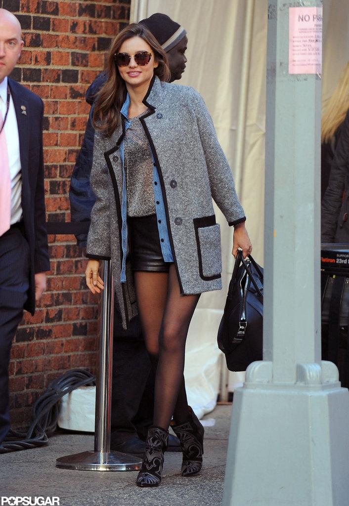 Miranda Kerr Heads to Rehearsals For the VS Lingerie Show