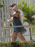 Enrique Iglesias and Anna Kournikova walked side by side in Cabo.