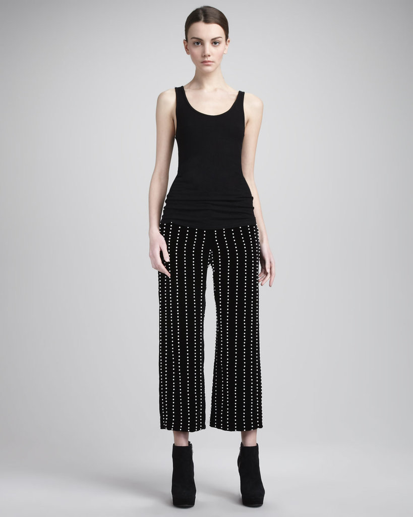 Channel your inner rocker girl with these beaded Alexander Wang Pearl-Stripe Velvet Pants ($437 from $1,250).