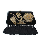 Oversize tassels give this Mary Frances Velvet Clutch ($109) an extra opulent touch.