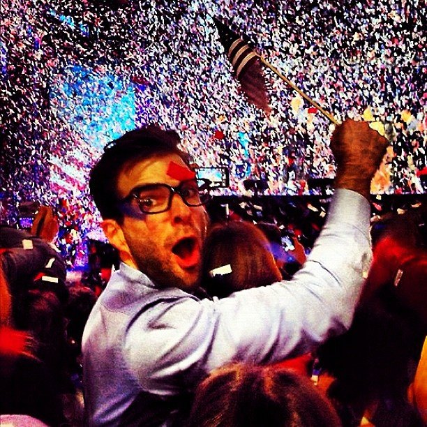 Zachary Quinto got in on the celebrating.  Source: Instagram user ersatzach