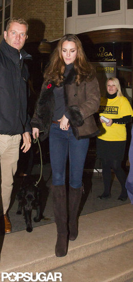 Kate Middleton stepped out in London with Lupo.