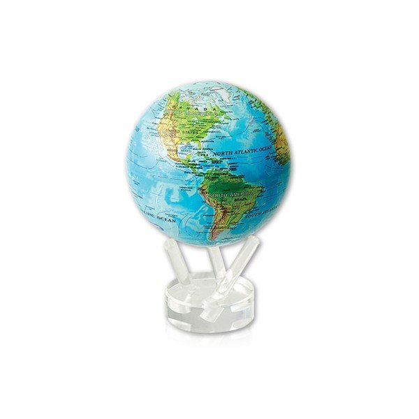 Perpetually Rotating Glass Mova Globe