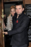 Matt Bellamy and Kate Hudson left dinner together in London.