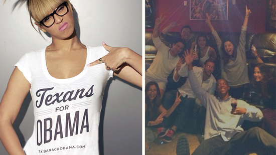 Video: Beyoncé, Eva Longoria, and More Star Reactions to Obama's Win