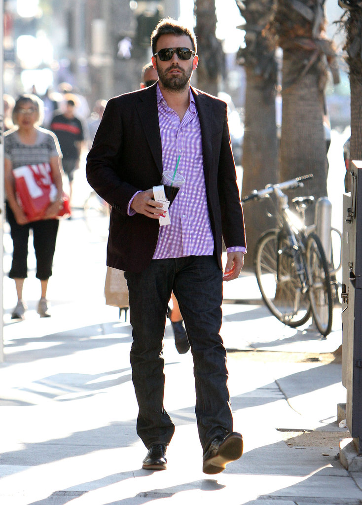 Ben Affleck sported a light shirt in LA.