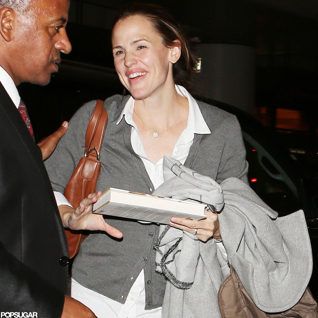 Jennifer Garner smiled at the airport in LA.