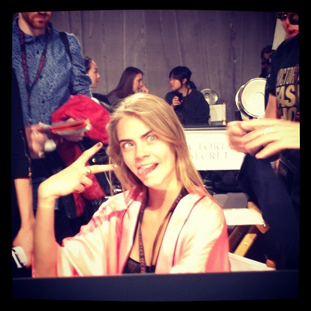 Behati Prinsloo snapped a photo from behind the scenes. Source: Instagram user behatiiprinsloo