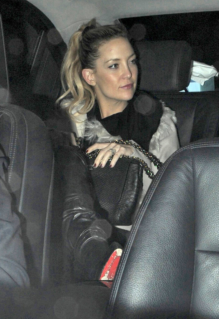 Kate Hudson wore a cream coat for an outing in London.