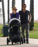 Anna Paquin and Stephen Moyer Take a Walk With the Twins