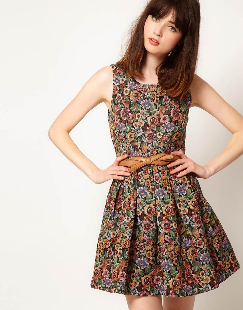 Nishe's Tapestry Lantern Dress ($112) is a cute, girlie way to get in on the baroque trend.