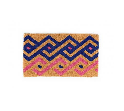 The graphic navy-and-pink tribal motif on this Arya Doormat ($40) would liven any entry.