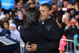 The Obamas shared a moment in Iowa.