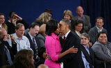 At the second presidential debate, Michelle made a stunning supporter of the president.
