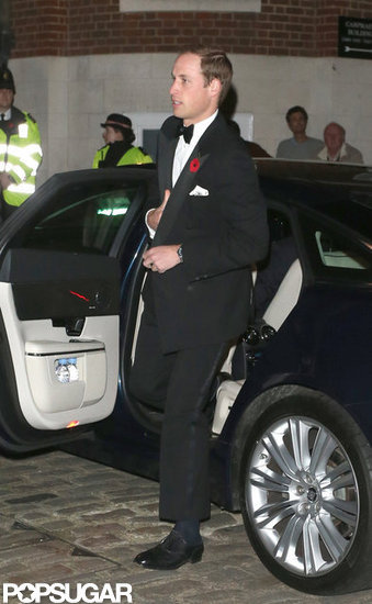 Prince William wore a tuxedo.