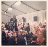Miranda Kerr captured the backstage madness.  Source: Instagram user mirandakerrverified