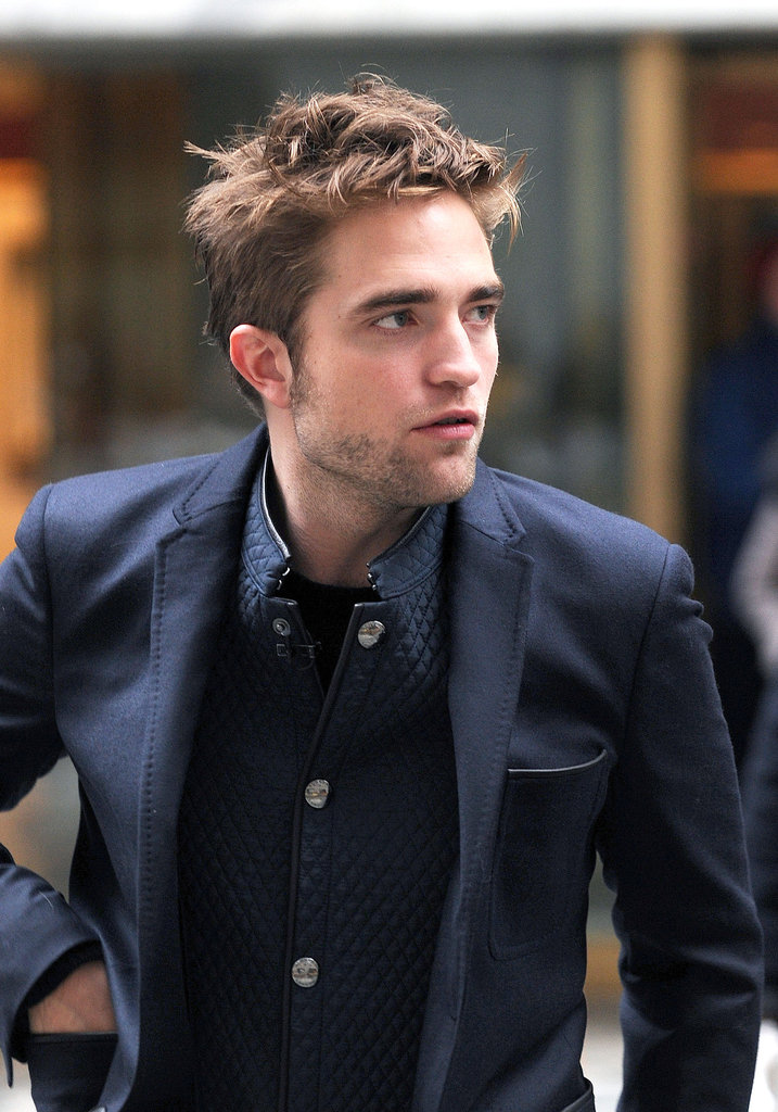Robert Pattinson promoted Breaking Dawn —Part 2 in NYC.