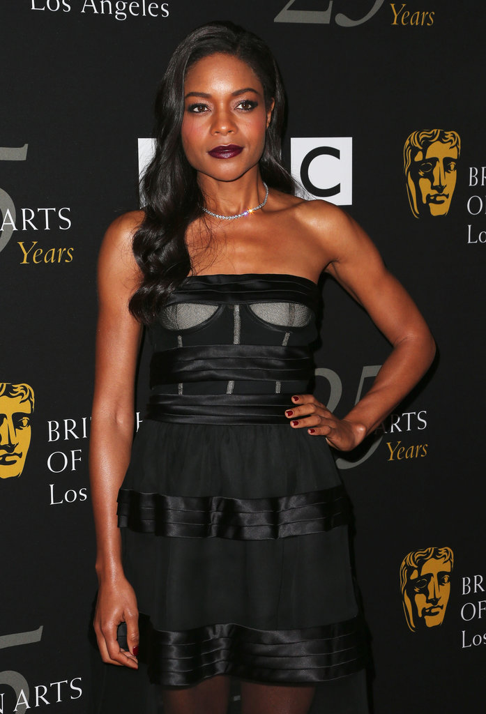 Naomie Harris rocked a black dress.
