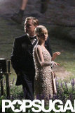 Leonardo DiCaprio filmed scenes for The Great Gatsby with Carey Mulligan in December 2011.