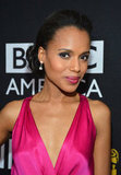 Kerry Washington wore her hair up for the awards.