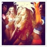 VS Angels danced backstage while Justin Bieber performed.  Source: Instagram user victoriassecret