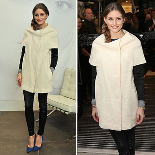 Olivia Palermo Wearing a White Coat