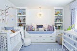Brooks's room is a mix of modern and traditional with furniture from Ducduc and accent pieces from Serena and Lily, among others. Source: MollySims.com