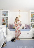 "In planning the room, Molly said, ""Since I knew Scott and I would likely be spending lots of time in the nursery ourselves (hello midnight feedings!), I wanted it to feel like a sanctuary for mama and daddy too!"" Source: MollySims.com"