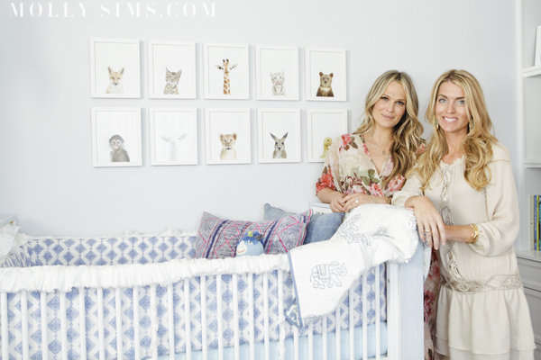 Molly worked with interior designer Kishani Perera and Tiffany and Wendy from Layla Grayce to create her dream nursery. Source: MollySims.com
