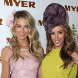 Delta Goodrem, Jennifer Hawkins at 2012 Crown Oaks Day