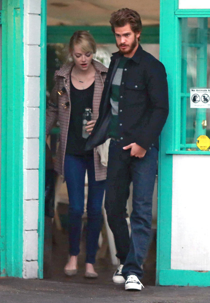 Emma Stone wore jeans and flats to go out in Santa Barbara.