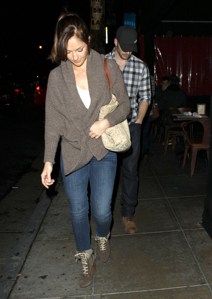 Chris Evans and Minka Kelly Share a Sushi Date Night