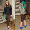 Get Olivia Palermo's Style With Green And Blue Accessories