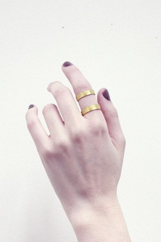 This double band brass ring from Young Frankk ($62) is unexpected yet still simple in design. — Annie Scudder, editor