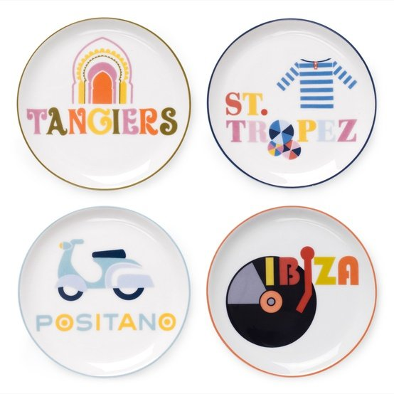 I love to travel, and these Jonathan Adler jet-set coasters ($48) would let me live out the fantasy at home, too. — Annie Scudder, editor
