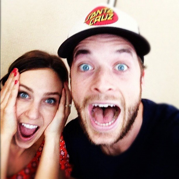 "Hamish Blake and Zoë Foster were thrilled with their winnings of ""teatowels."" Source: Instagram user hamishandandy"
